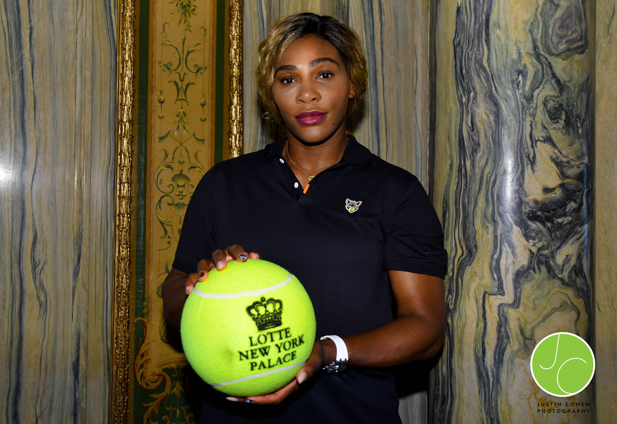 Serena Williams at the Lotte New York Palace event in New York City during the US Open Tennis Championships